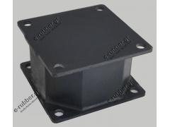 Roller Drum Antivibration Mount 180x180x100 4 Screw holes D16 centers 147x147