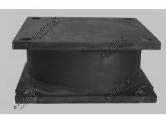 Roller Drum Antivibration Mount 150x150x65 4 Screw holes D12 centers 127x127